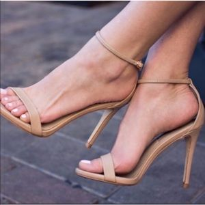 • Steve Madden • Stecy Nude Ankle Strap Heels